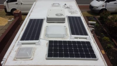 fixed solar panels for caravans and motor homes